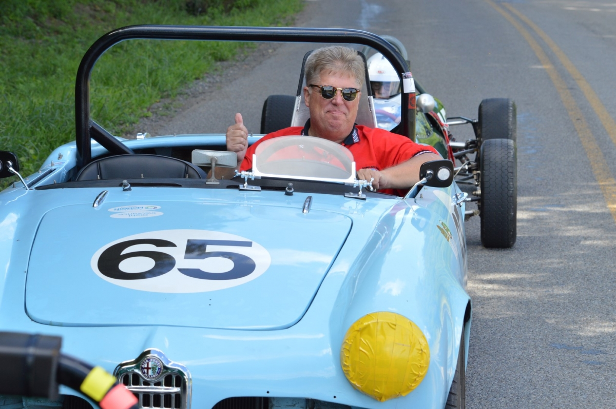 Kurt in his Dad's Alfa