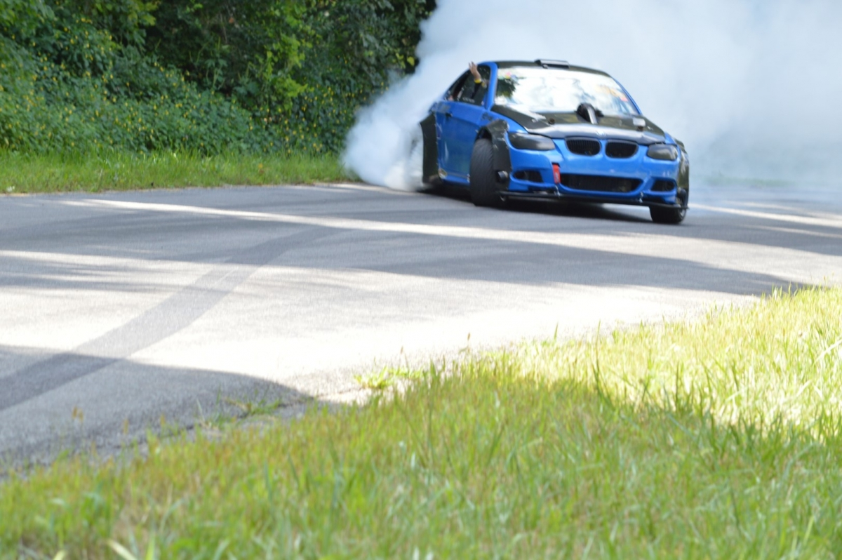 Ok this is Drift car on a hill climb!